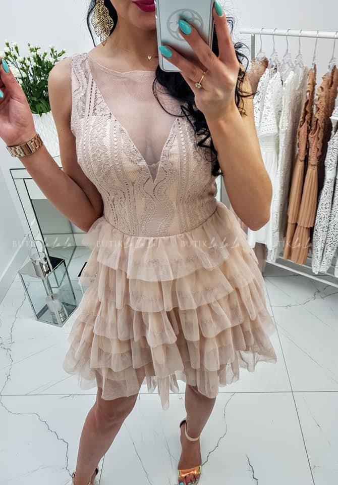 Sukienka Nude Cardoss - butiklalala.pl