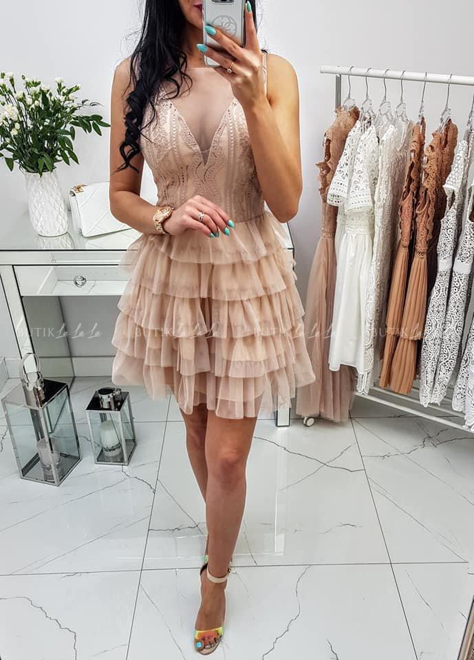 Sukienka Anna Nude - butiklalala.pl