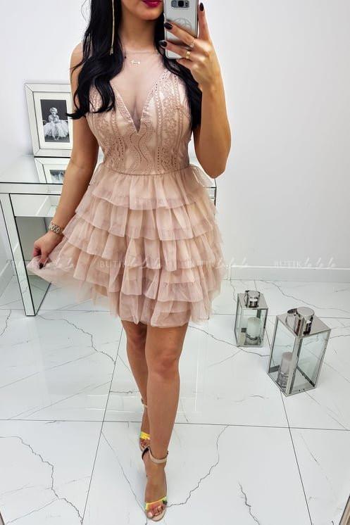 Sukienka Venecja Nude - butiklalala.pl