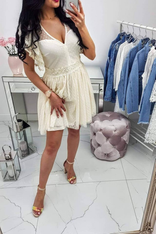 Sukienka Lilly Kremowa