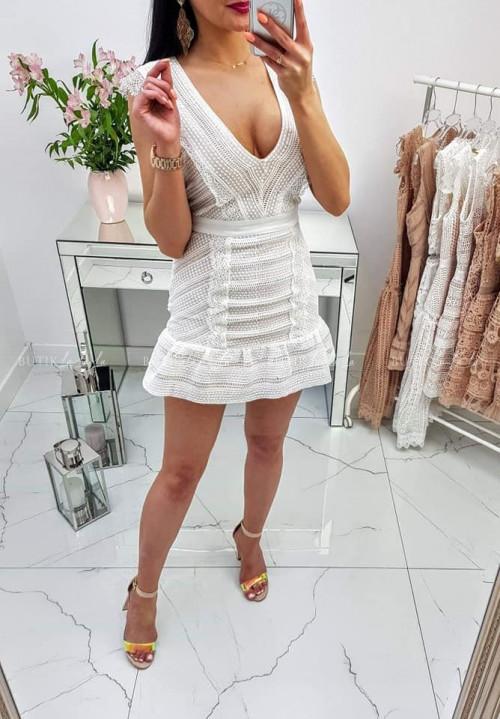 Sukienka Sabrina White