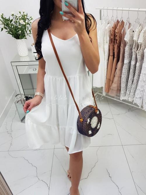 Sukienka White wiązane plecy Summer