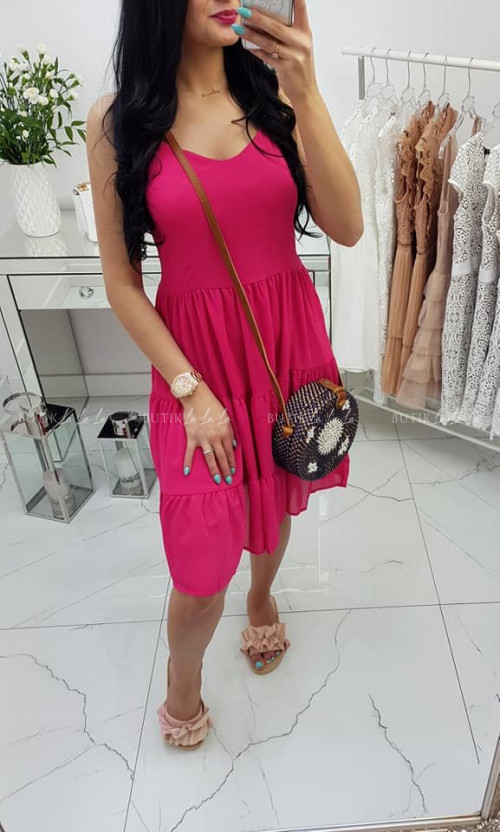 Sukienka Pink wiązane plecy Summer
