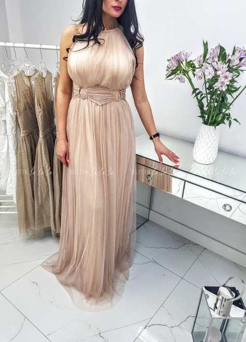 Sukienka Socy Maxi Nude