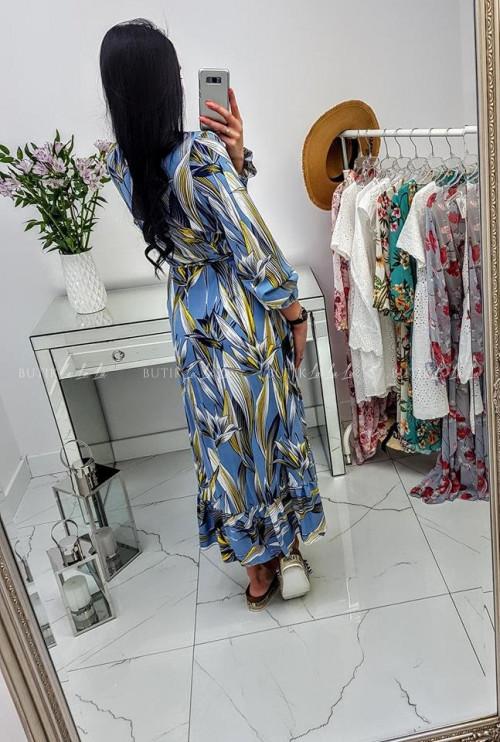 Sukienka Maxi długi rękaw Blue