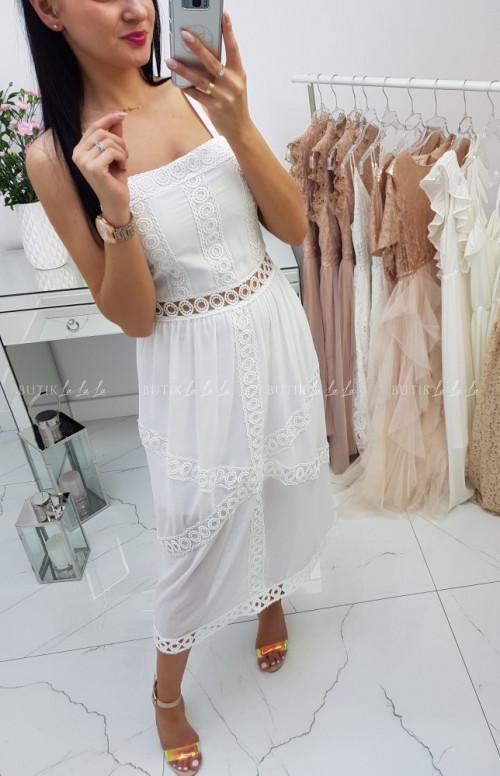 Sukienka Sofia na ramiączka White