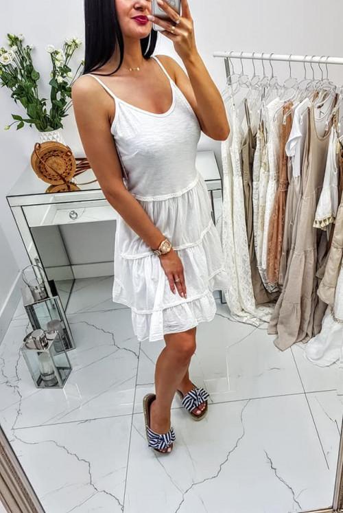 Sukienka Ariet z odkrytymi plecami White