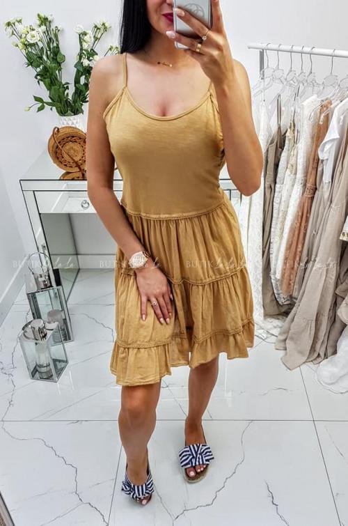 Sukienka Ariet z odkrytymi plecami Camel