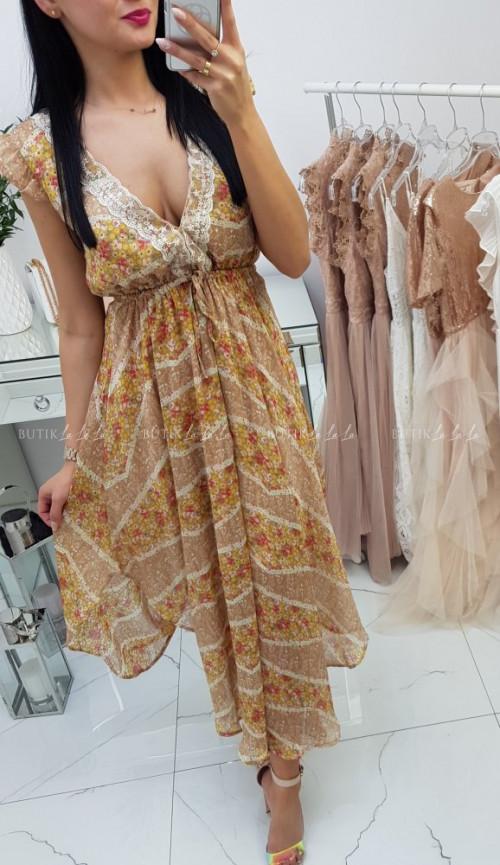 Sukienka Bella z odkrytymi plecami
