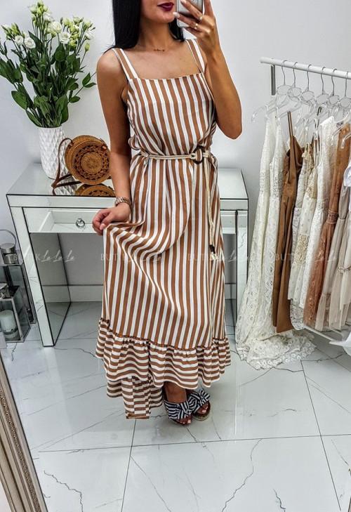 Sukienka w paski Camel Cavali