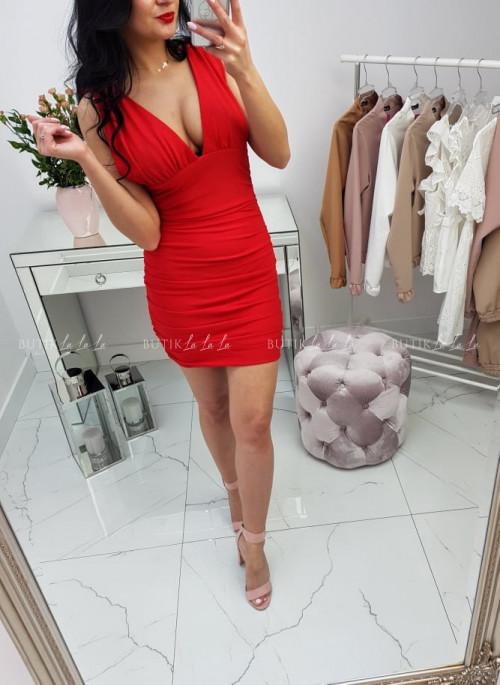Czerwona sukienka Ophelia