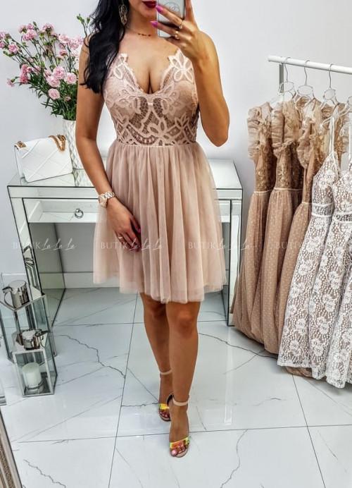 Beżowa Sukienka Alexy