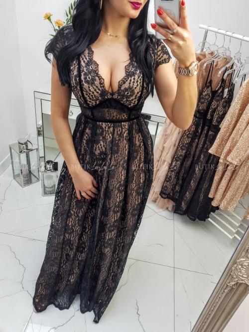 Sukienka Czarno/Beżowa Lady