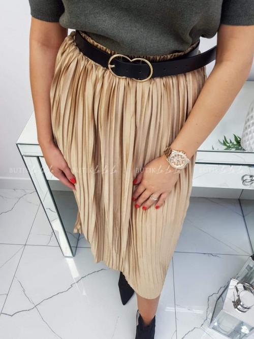 Spódnica beżowa plisowana Karina