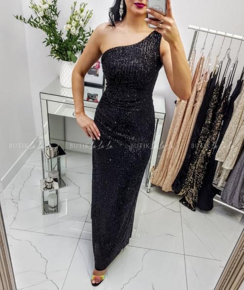 Sukienka Czarna cekinowa Carmela