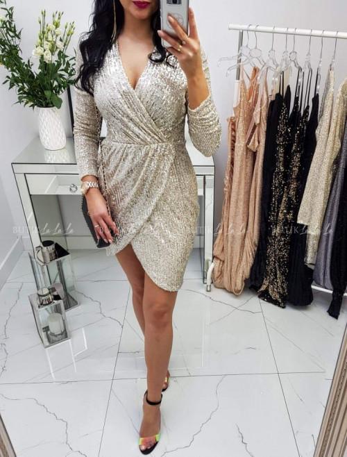 Sukienka Srebrna cekinowa Sarita