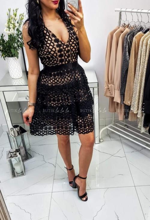 Sukienka Victoria Czarno/Beżowa