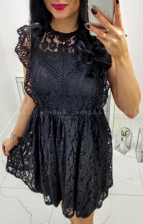 Sukienka czarna koronkowa Mell