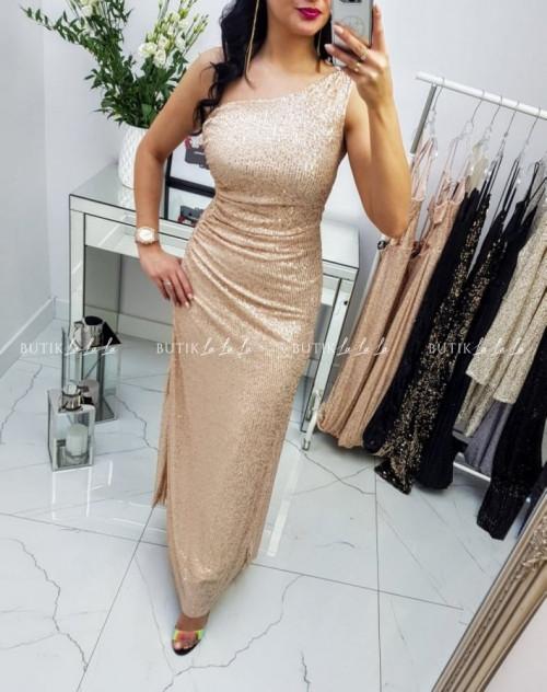 Sukienka Złota cekinowa Carmela