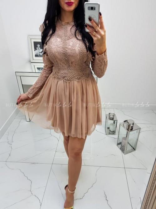 Sukienka Beżowa Doriana