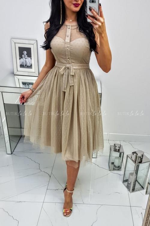 Sukienka Midi Beza Beige