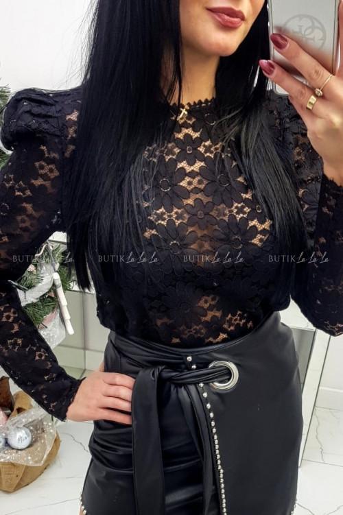 Bluzka Czarna koronkowa kilky