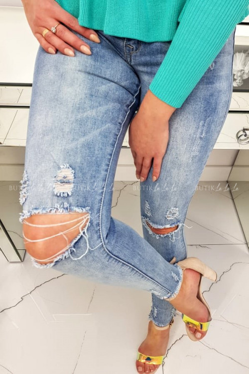 SPODNIE jeans Z DZIURAMI NA KOLANACH COLIN