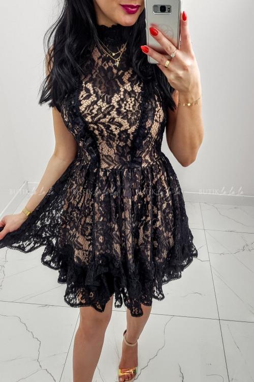 Sukienka Czarno/Beżowa koronkowa Anton