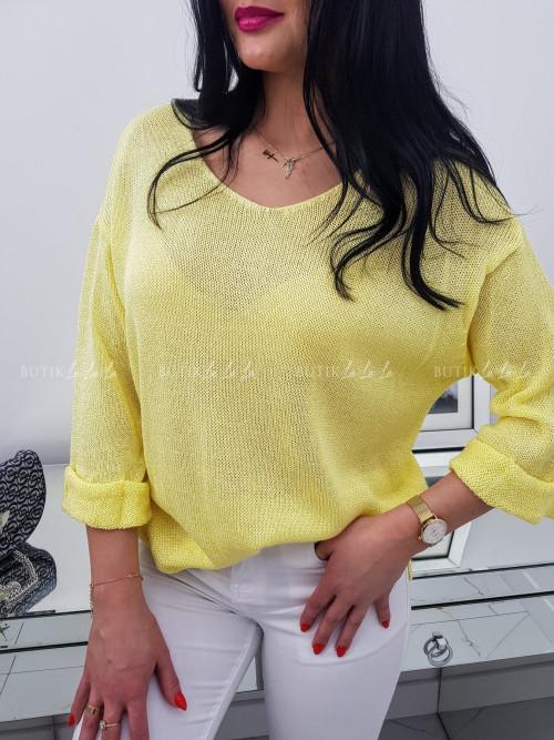 Sweter Żółty Neo