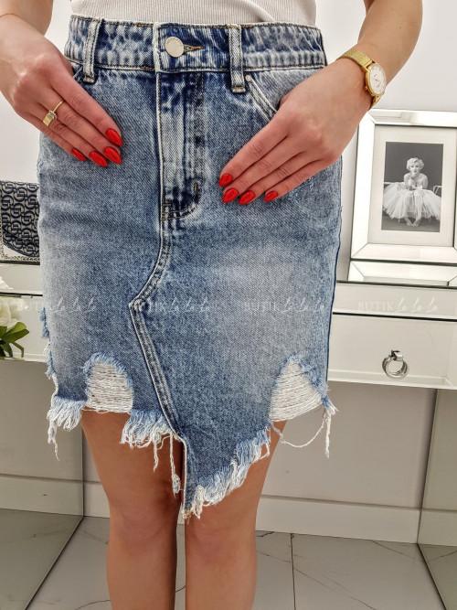 Spódniczka jeans Marmurkowa Toxik