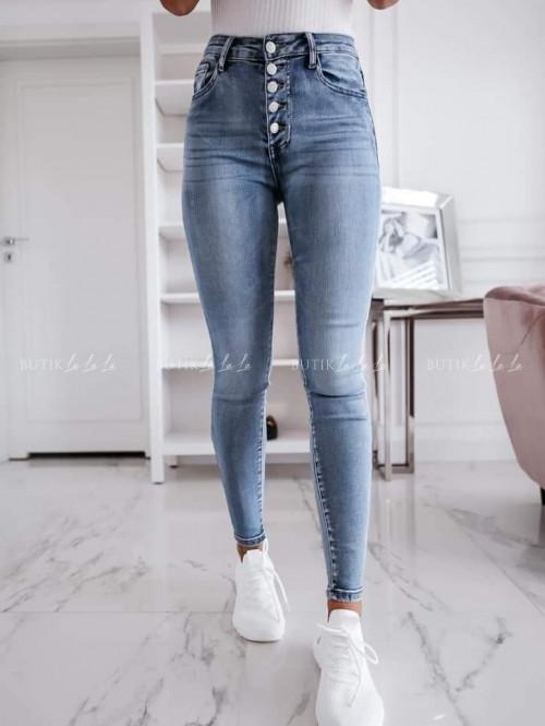 Spodnie jeansowe z guzikami