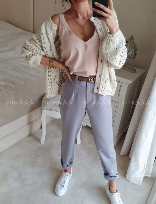 Spodnie Szare By mee