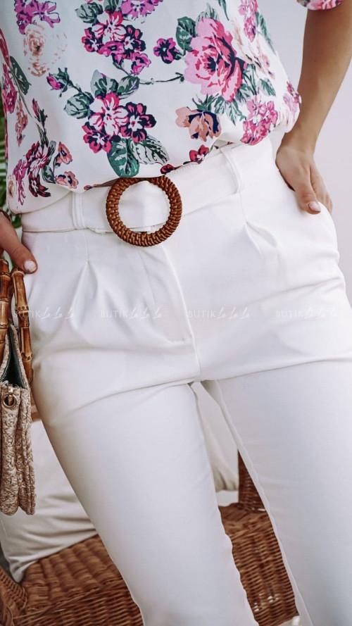 Spodnie Białe z paskiem Loca