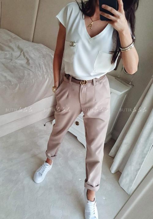 Bluzka Biała z kieszeniami Regi