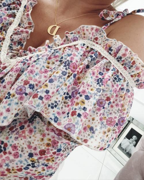 Bluzka w kwiatowy print Nina