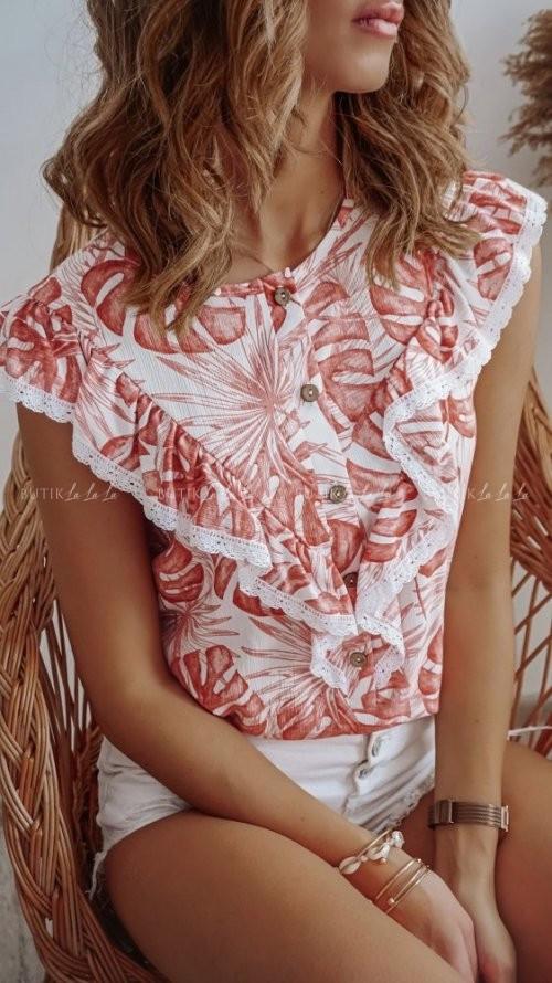 Bluzka w kwiatowy print