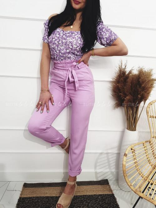 Spodnie liliowe Tina