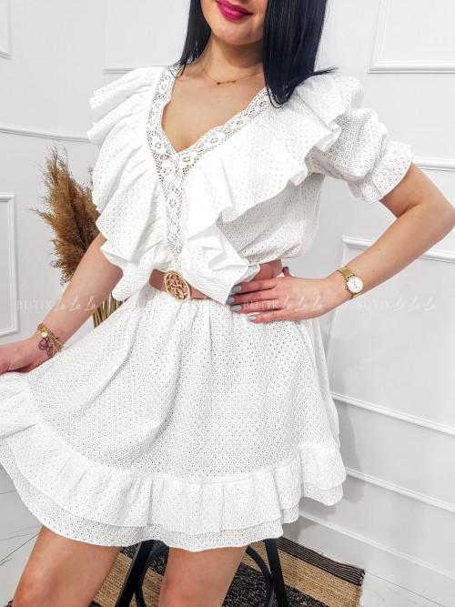 sukienka biała ażurowa Emma