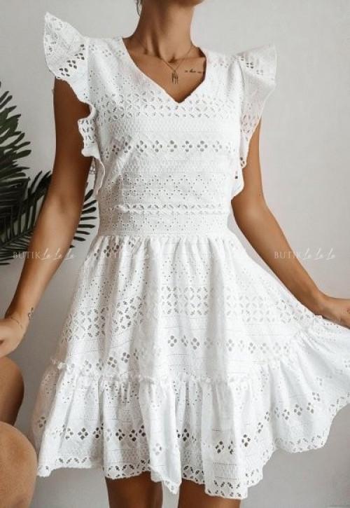 sukienka biała ażurowa Paula