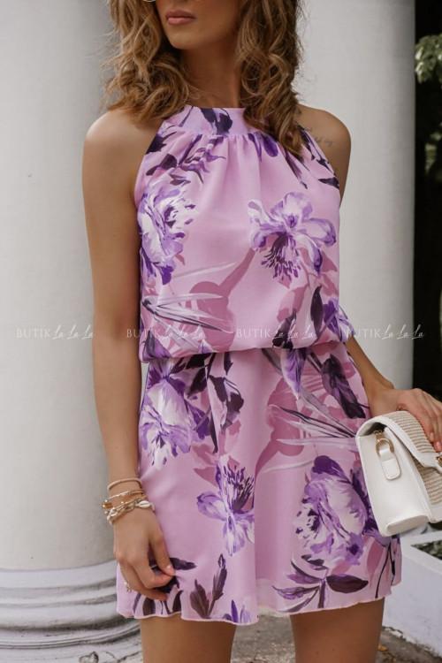 Sukienka w kwiatowy print Frill