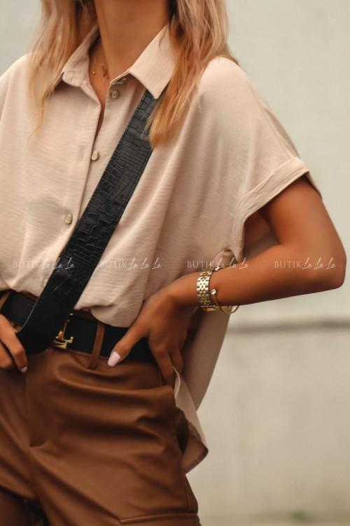 koszula z guziczkami beżowa Zante