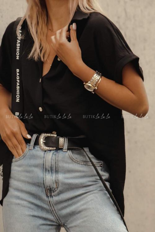 koszula z guziczkami czarna Zante