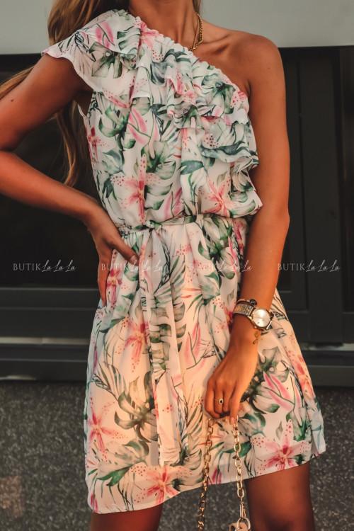 sukienka letnia mini w kwiatowy print z falbanką Simona 2