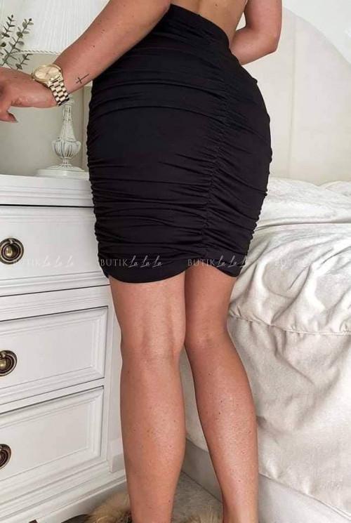 spódniczka marszczona czarna Fabiola