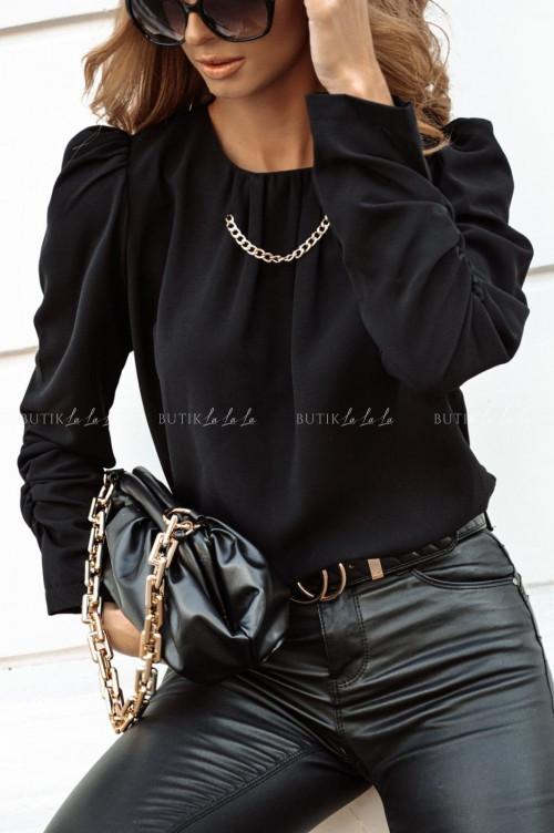 bluzka z łańcuszkiem czarna Solero