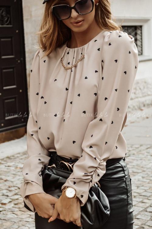 bluzka w serduszka beżowa Vosca