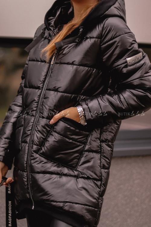 kurtka przedłużana czarna Revan