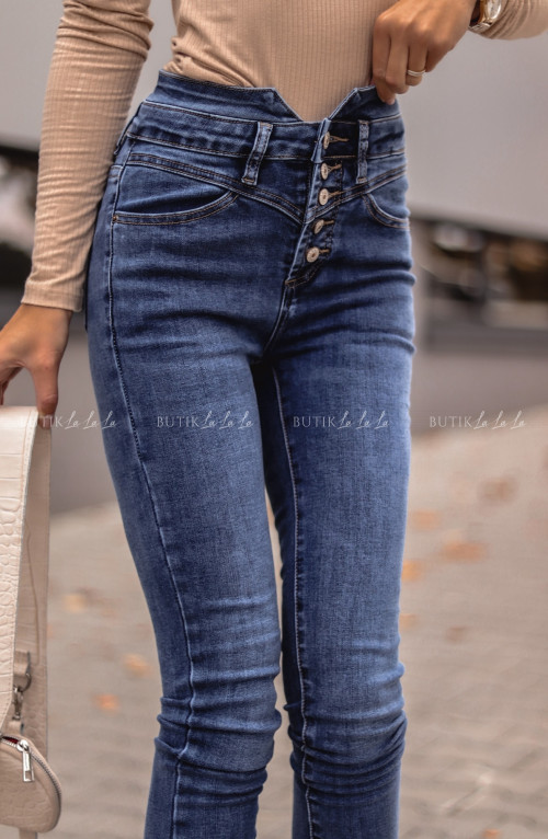 Spodnie z wysoki stanem jeans Vermu