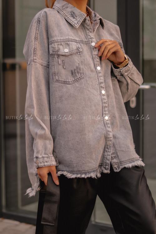 koszula jeansowa szara Vito
