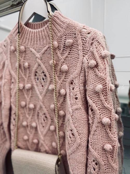 sweterek różowy Golden